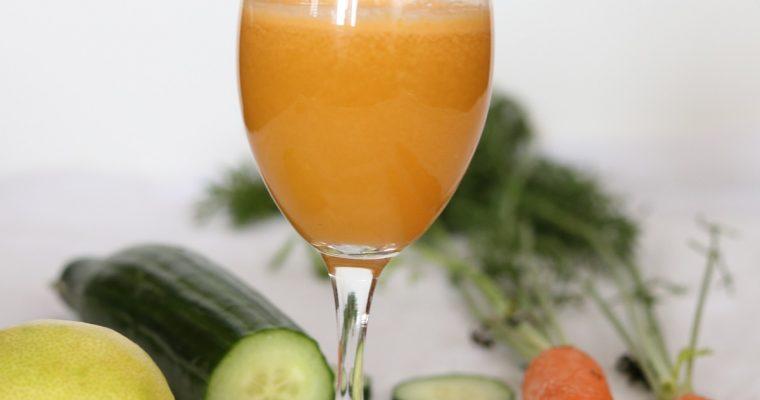 Cocktail carottes concombre et citron