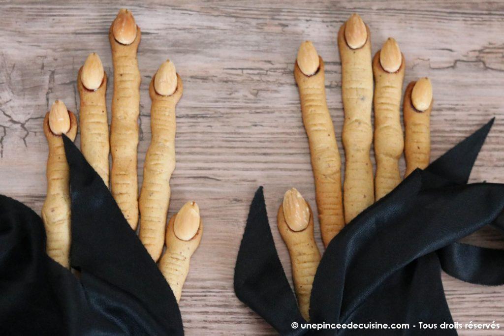 doigts de sorcieres d'Halloween