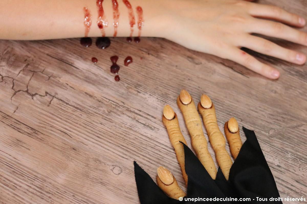 Doigts de sorcières d'Halloween