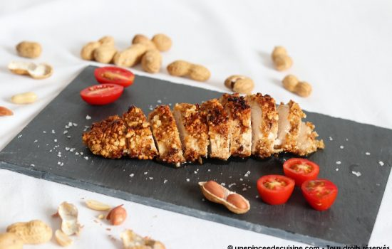 Blancs de poulet panés aux cacahuètes
