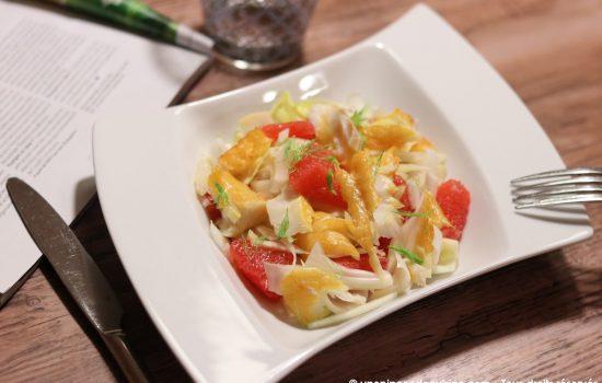 Salade de haddock fenouil endive et pamplemousse