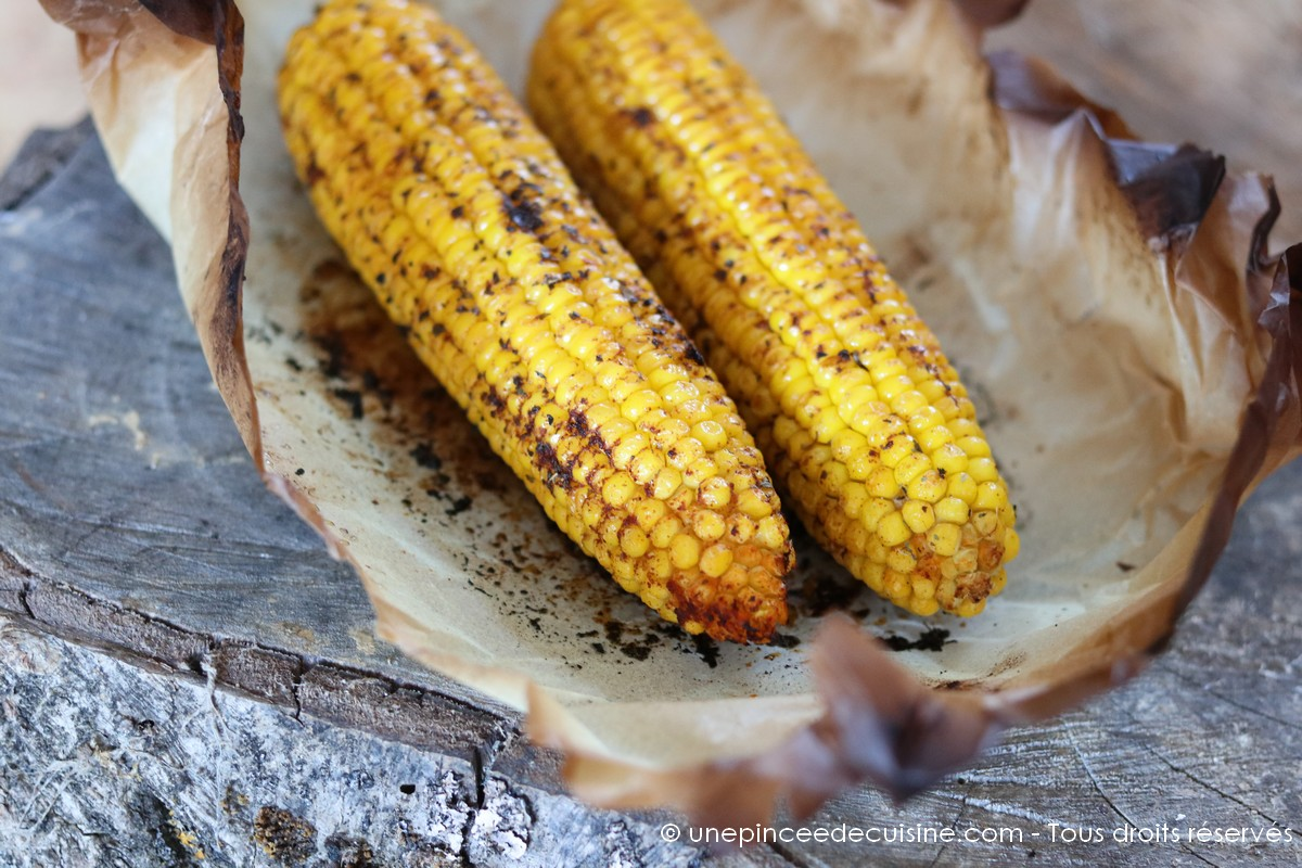 Epis de maïs grillés au four