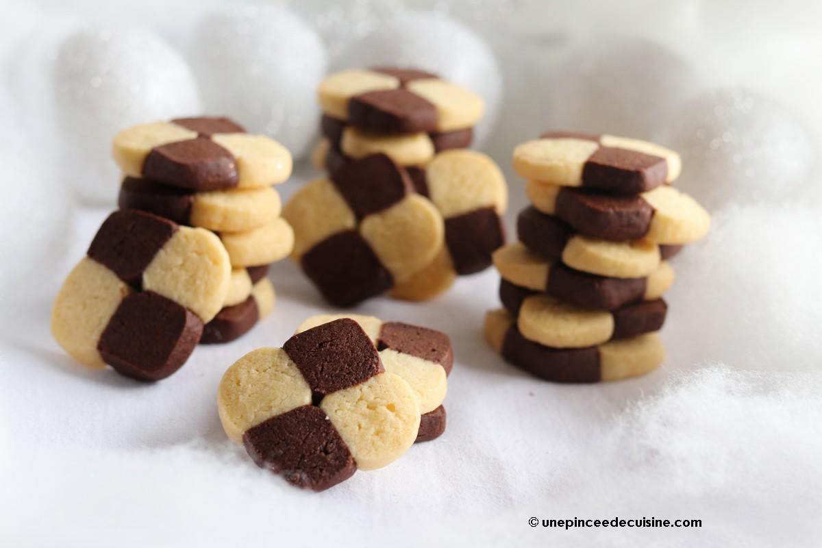 Biscuits damiers (Bredele alsaciens)