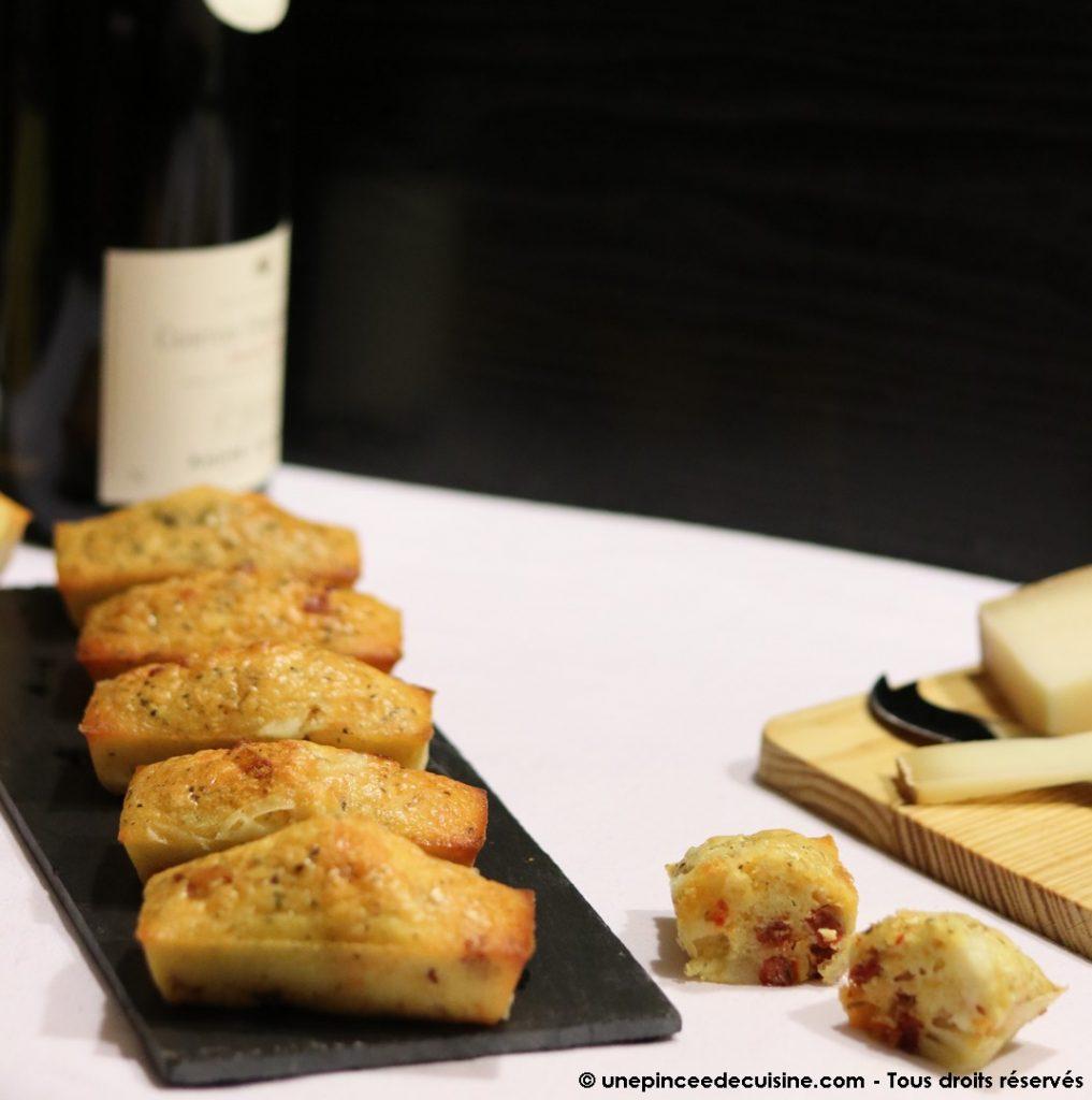 Mini cakes chorizo et fromage de brebis une pincee de cuisine