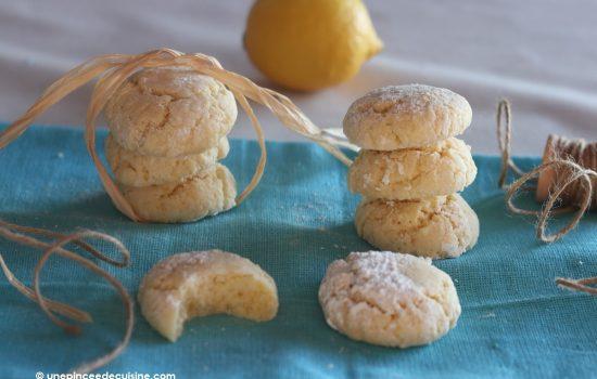 Crinkles au citron ou lemon crinkles