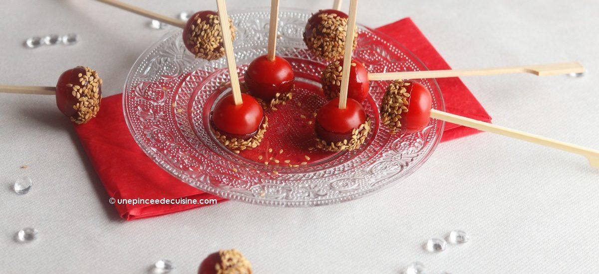 Tomates d'amour au caramel de vinaigre basalmique