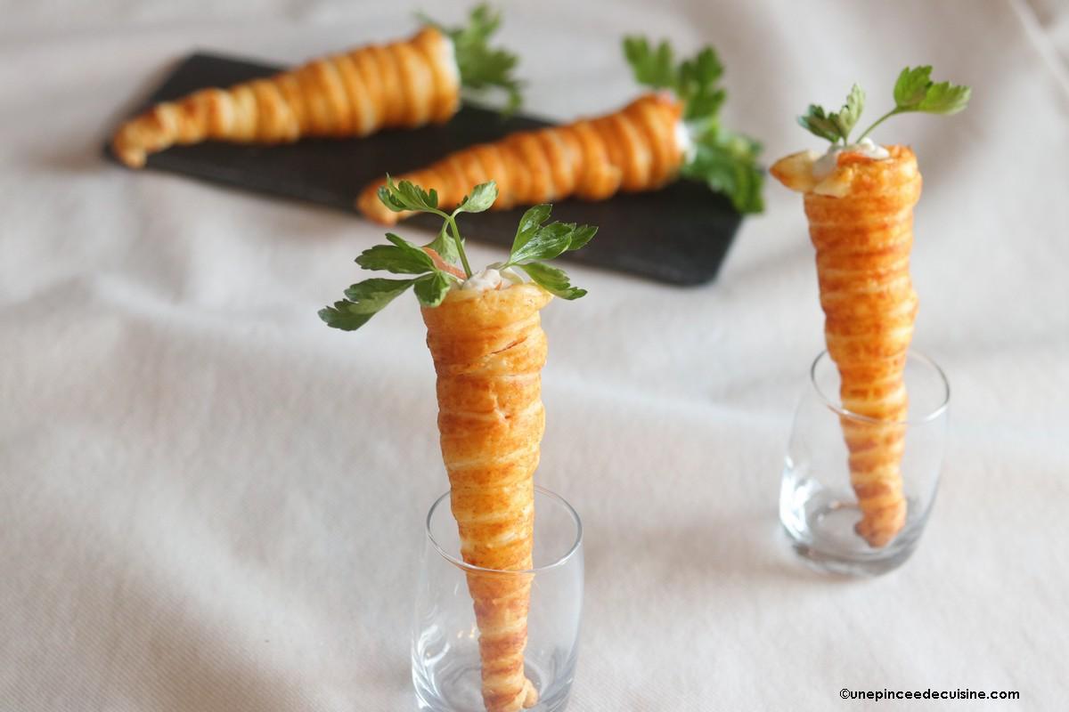 Carottes aperitives de Paques chantilly salée aux herbes