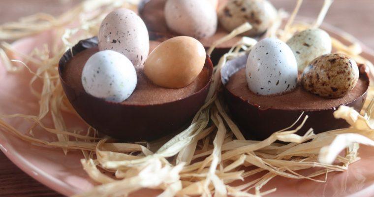 Nid de Pâques mousse au chocolat façon Philippe Conticini