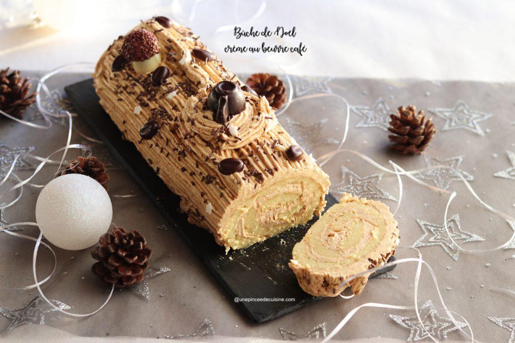 Bûche de Noël crème beurre café