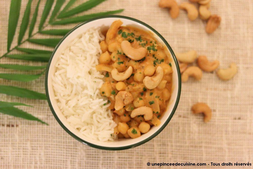 curry de pois chiches vegetarien et vegetalien