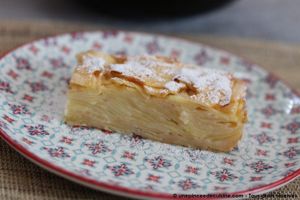 Gâteau invisible aux pommes une pincee de cuisine