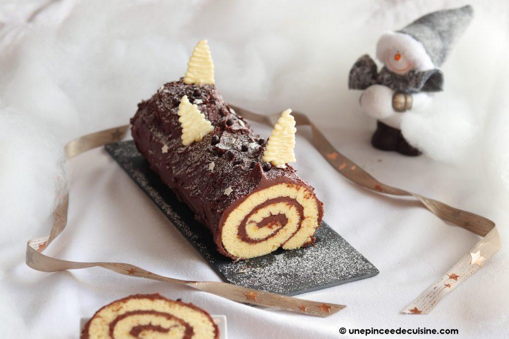 Bûche de Noël ganache au chocolat