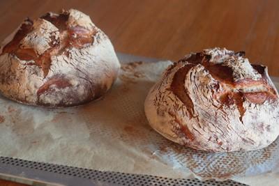 pain au levain et à l'épeautre