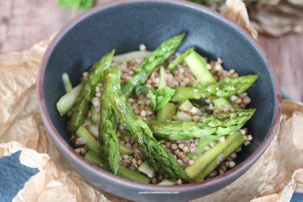 Salade de sarrasin aux asperges